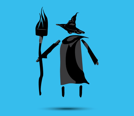 Witch and Broom COncept Design Illustration