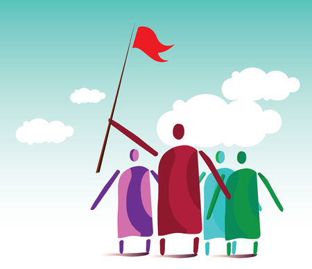 manifest: Leaders and People Crowd. EPS 10 supported. Illustration