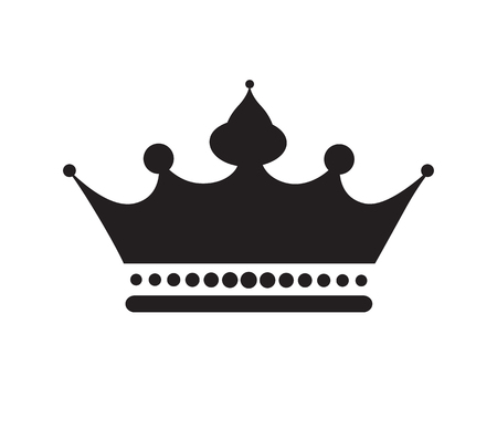 Black Crown Icon Design.