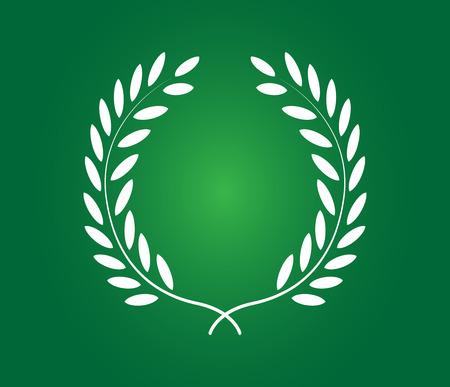 Laurel Wreath Icon Design.