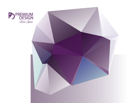 Polygonal Abstract Background Design and PD Vektorové ilustrace