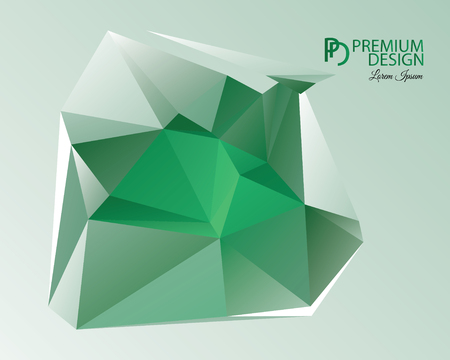 Polygonal Abstract Background Design and PD
