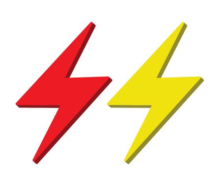 high voltage: Lightning Icon Design