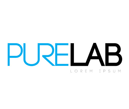 pure: Pure Lab Concept  Logo Design Illustration