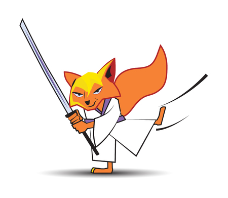 Ninja Fox Character Design Illustration