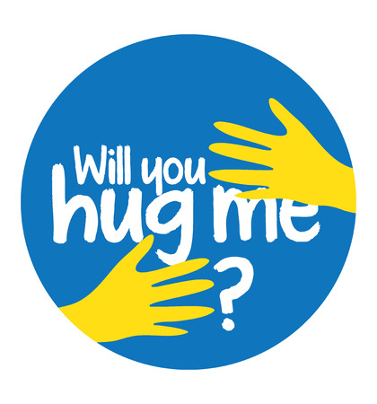 open type font: Will You Hug Me Concept Design Illustration