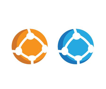 Round Communication Icon Set Design