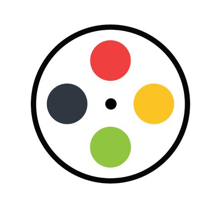 Film Reel Design Concept.