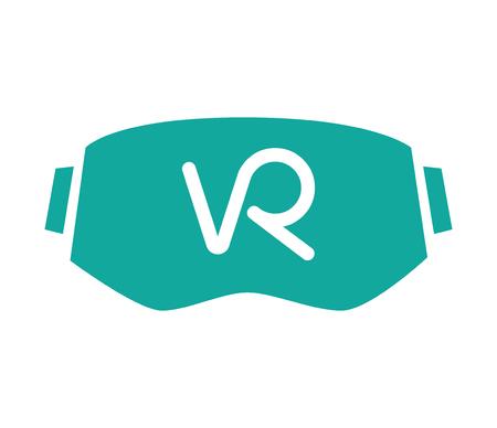 가상 현실 및 3D 안경 아이콘 디자인