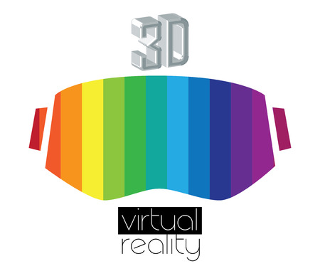 3D Virtual Reality  and Eyewear Concept.