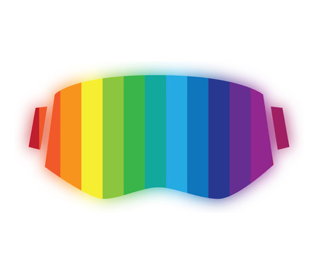 Virtual Reality and 3D Eyewear Icon Design