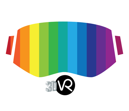 eyewear: 3D Virtual Reality  and Eyewear Concept.