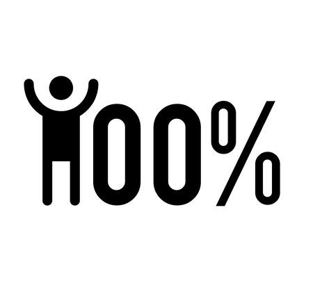 hundred: 100% Success Illustration