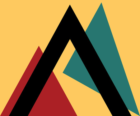 poster art: Triangle Design Element with Background.