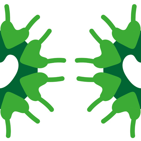 plantae: Microscobic Algea Vector Design