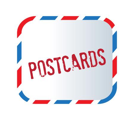 postcard design: Postcard Text And Letter Design