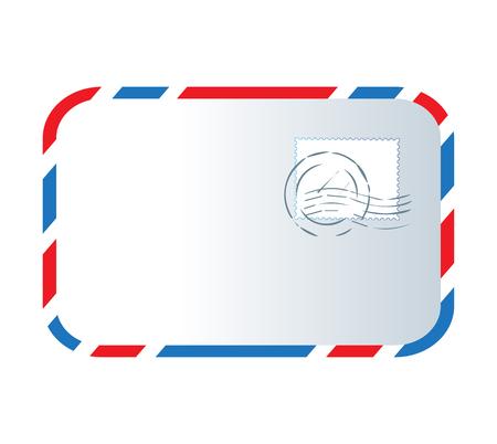 Letter and Stamp Design Illustration