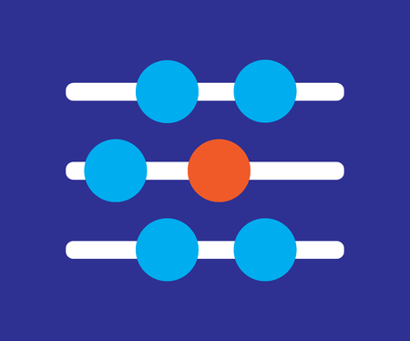 countable: Abacus Icon Design Concept