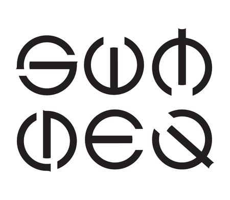 Letters Sign Concept Design, EPS 8 supported. Vektoros illusztráció