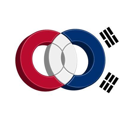 Korean Icon Concept Design, EPS 8 supported.