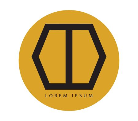 double entry: Geometric Door Logo Design