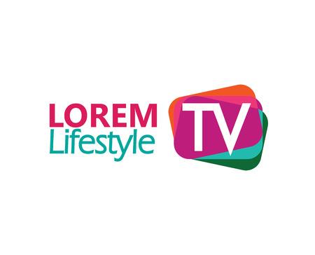 TV Logo Concept Concept. EPS 8 ondersteund. Logo