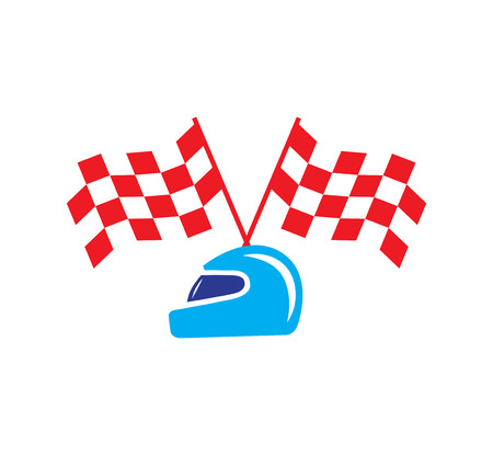 Checkered Flag and Helmet Design. EPS 8 supported. Illustration