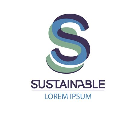 sustainable design: Sustainable Logo Design Concept. EPS 8 supported.