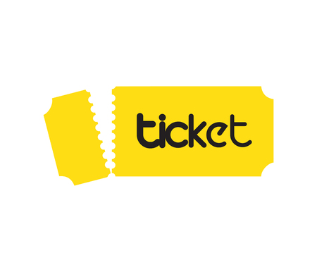 Ticket Design with Logo Concept. EPS 8 supported Illustration