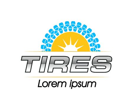 Tires Logo Design Concept. EPS 8 supported.