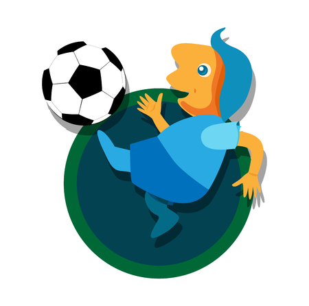8 ball: Soccer with Ball illustration. EPS 8 supported. Illustration