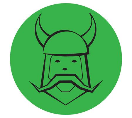 Viking Portrait Illustration. Eps 8 supported.