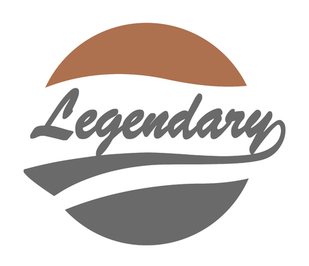 legendary: Legendary Caligraphy Design with Background. Eps 8 supported.