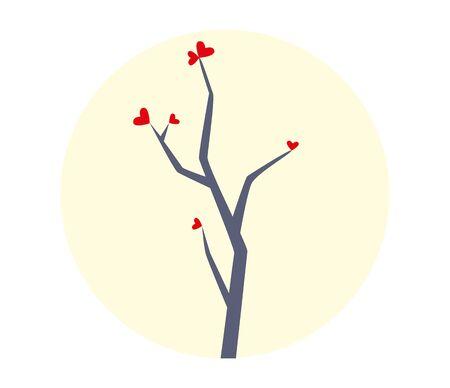 tree: Tree with Hearts Illustration
