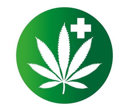 Canabis Medicine Concept Design. Eps 8 supported. Ilustração