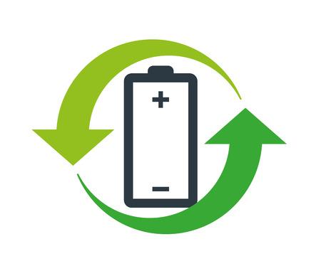 voltage sign: Environmentally Friendly Battery Logo Concept Design