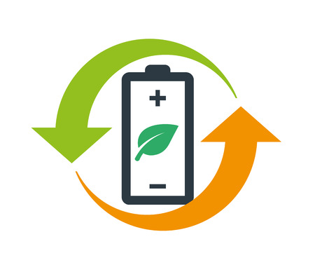 환경 친화적 인 배터리 로고 컨셉 디자인