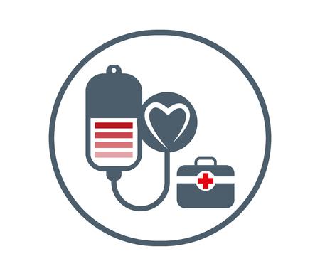 Concepto de diseño de la Salud con forma de corazón. Eps 8 compatibles. Ilustración de vector