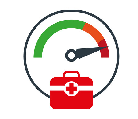 First Aid with Doctor Bag Icon Design Иллюстрация