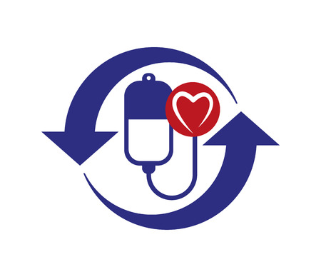 Concept Design on Health with Heart Shape. Eps 8 supported.