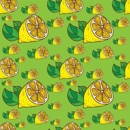 limones: Patr�n de limones de colores de fondo