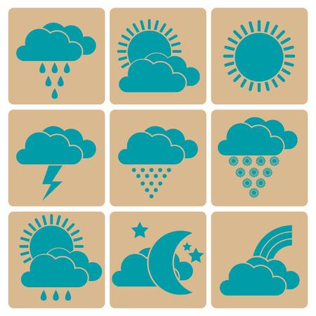 rains: Weather icons set Illustration