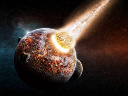 end of world: Planet landscape apocalypse