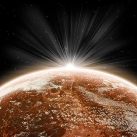 Planet earth sunrise photo