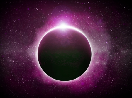 Eclipse of the sun over the planet Earth Stock Photo - 14975067
