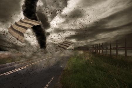 end of the world: Tornado hurricane