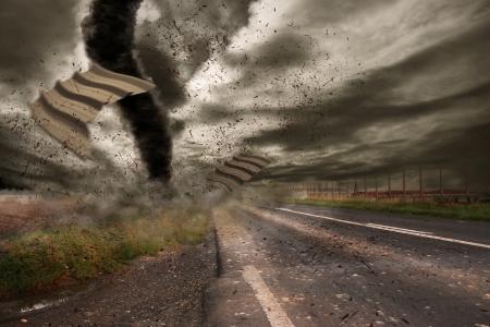 catastrophe: Tornado ouragan Banque d'images