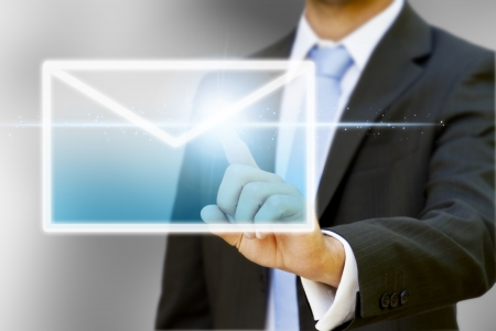 Businessman internet concept