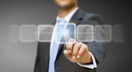 Businessman solution concept photo