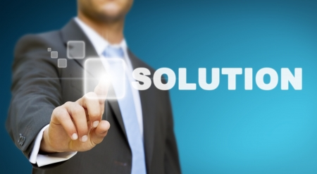 business solutions: Businessman solution concept